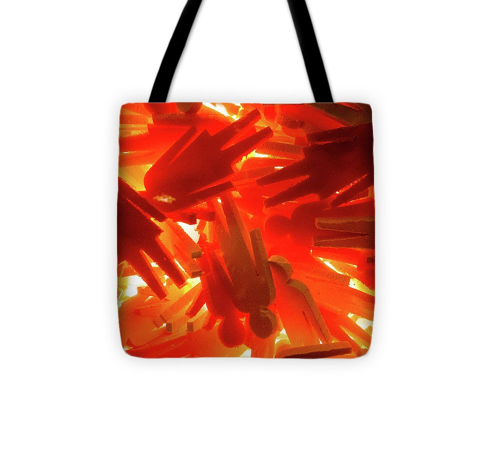 Orange Plastic People - Tote Bag