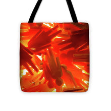 Load image into Gallery viewer, Orange Plastic People - Tote Bag