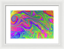 Load image into Gallery viewer, Rainbow Vortex Soap Bubble Art - Framed Print