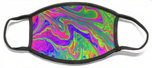 Load image into Gallery viewer, Rainbow Vortex Soap Bubble Art - Face Mask