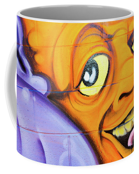 Smiling Orange Face - Mug