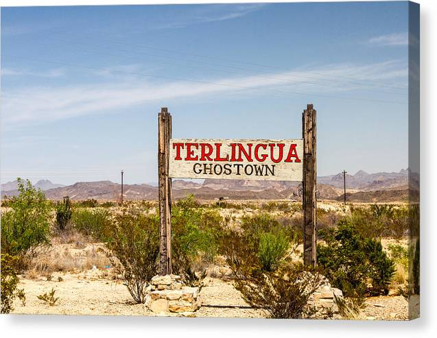 Terlingua Ghost Town Sign - Canvas Print
