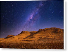 Load image into Gallery viewer, Three Mesas in Moonlight - Canvas Print