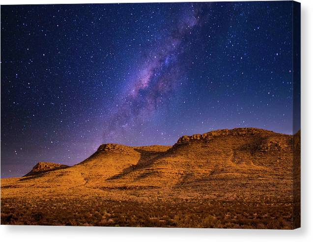 Three Mesas in Moonlight - Canvas Print