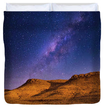 Load image into Gallery viewer, Three Mesas in Moonlight - Duvet Cover