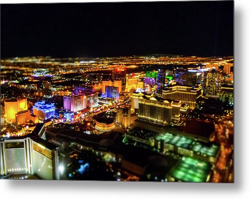 Vegas Nights - Metal Print