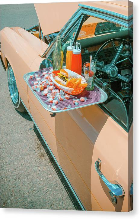 Vintage Auto and Window Tray - Canvas Print
