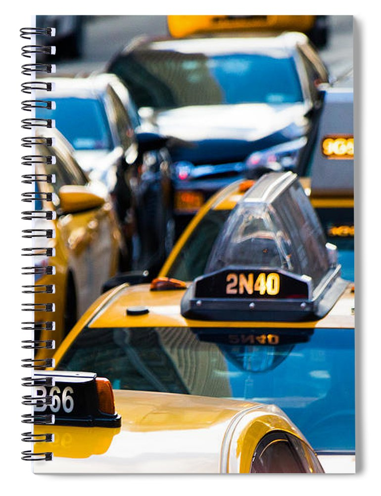 Yellow Taxis - Spiral Notebook