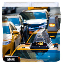 Load image into Gallery viewer, Yellow Taxis - Duvet Cover