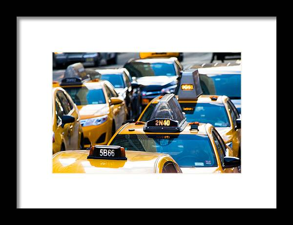 Yellow Taxis - Framed Print