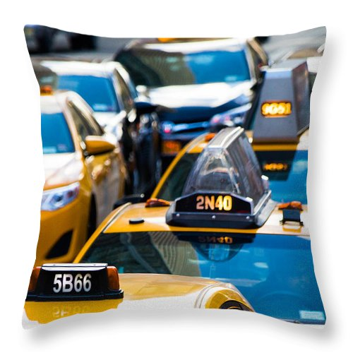 Yellow Taxis - Throw Pillow