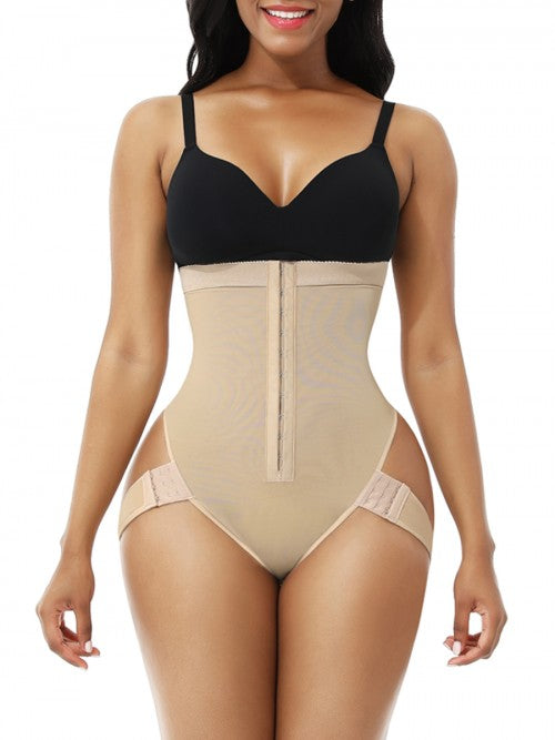 2 boned high waisted thong shaper with compression