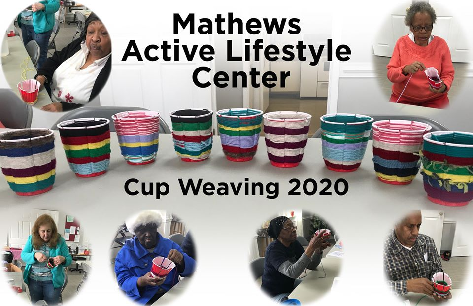 Cup weaving at the Active Lifestyle Center