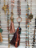 crocheted bead and tassel necklaces by Creative Ahoy jewelry