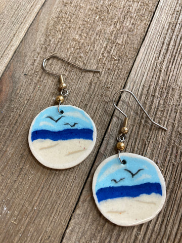 Julia Dorsey- Porcelain Beach Earrings
