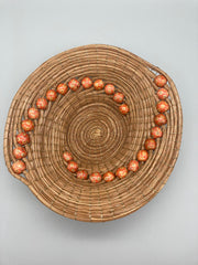 Nina Buzby - Round Basket with Red Bead Spiral