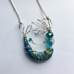 Victoria Watson - Freeform Wire Mermaid Necklace