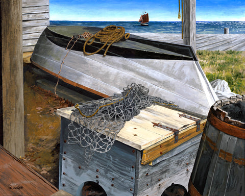 Dennis Rundlett -Boat Shed Giclee