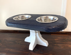 Garrett L. Jones- Blue Raised Dog Feeder