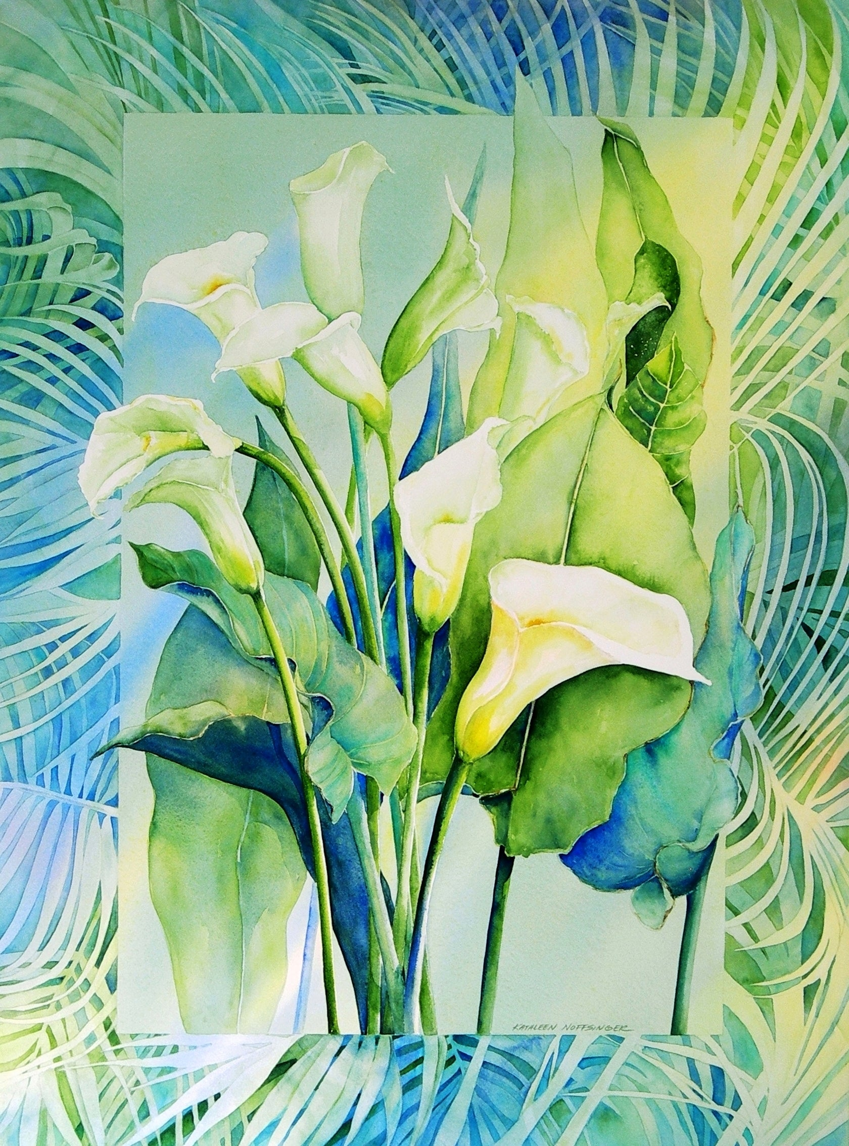 Kathleen Noffsinger - Callas and Palms Artist Proof