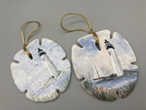 Virginia Coyle - New Point Comfort Sand Dollar Ornaments