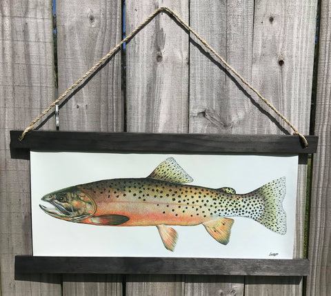 Chris Lombard - Cut Throat Trout Hanging Print