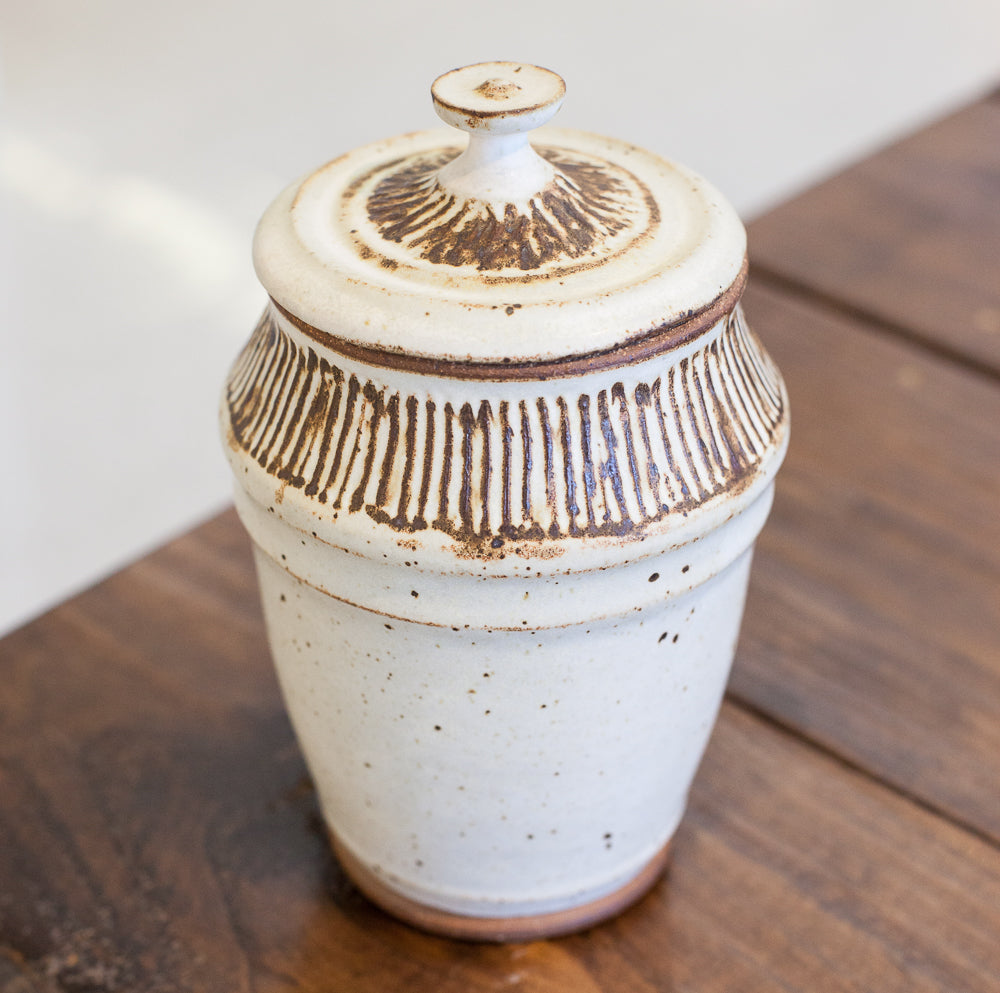 Wendy Jensen - Cream Lidded Jar