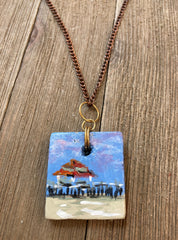 Elizabeth Shumate - Miniature Painting Necklace 01