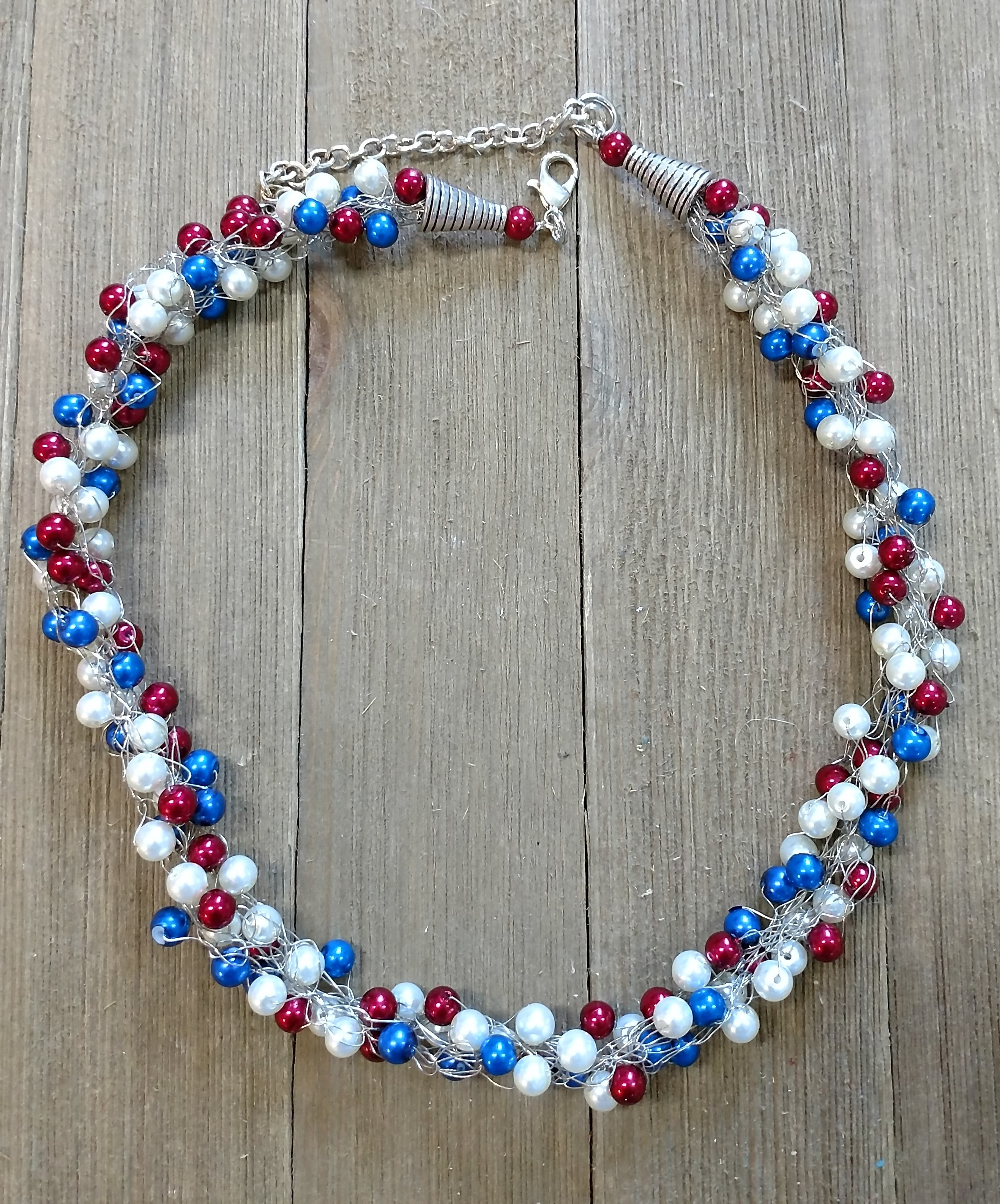 Pat Whitlow- Patriotic Necklace