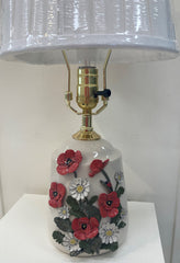 Julia Dorsey- Poppy and Daisy Porcelain Lamp