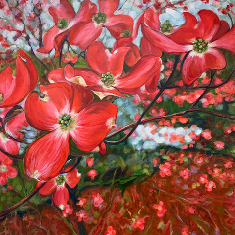 Gayle Merrill - Red Dogwood Tree