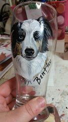 Jennifer Schroeder- Custom Painted Dog Breed Beer Glass