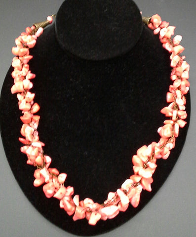 Pat Whitlow- Coral Necklace