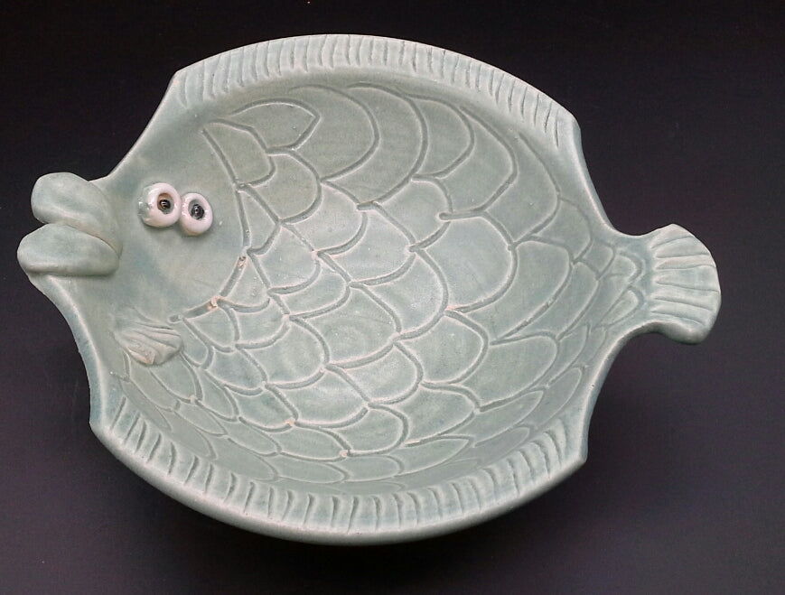 Sue Henshaw - Fish Bowl Light Green
