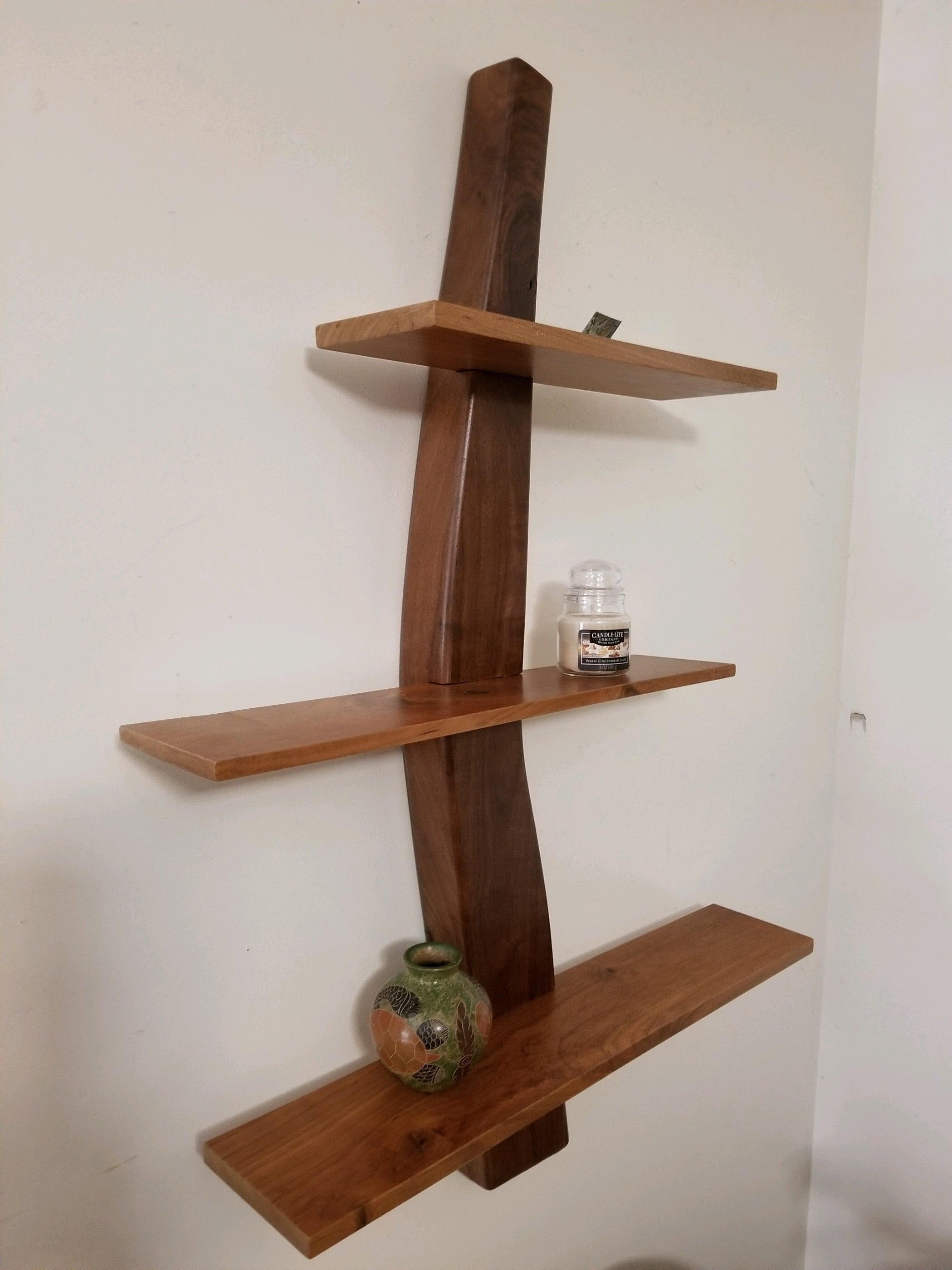 Harborwood Studio - Walnut and cherry display shelf