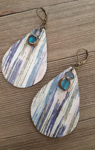 Lesley Atkinson - Faux Leather Earrings 005