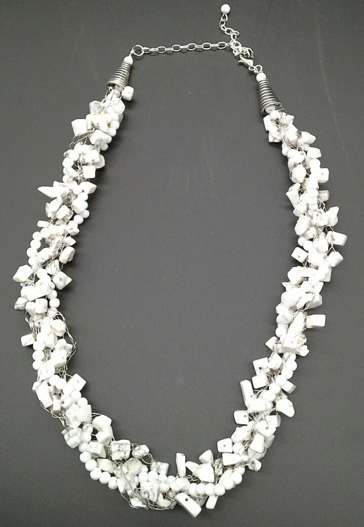 Pat Whitlow- White Necklace
