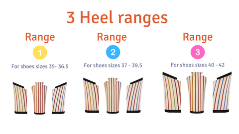 Removeable Heel Size Chart