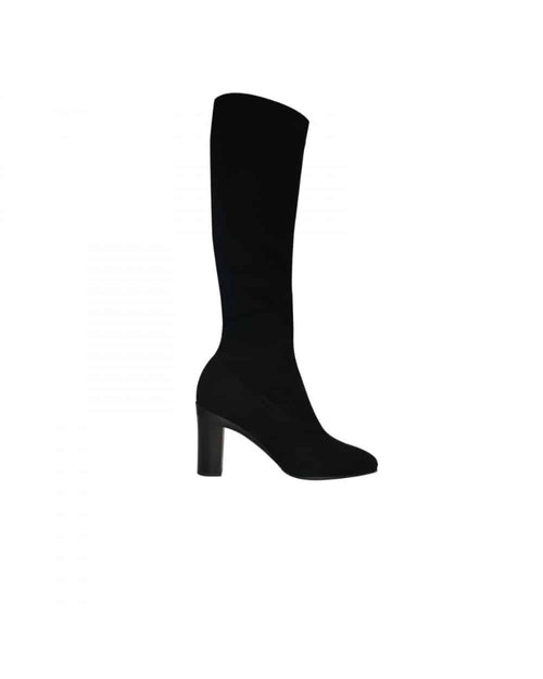 Margaret Vegan Velvet Lycra Boot Removeable Heel