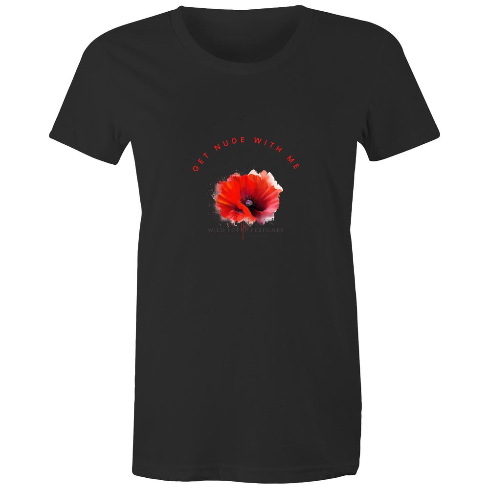 Women's Maple Organic Tee - Black - Get Nude With Me