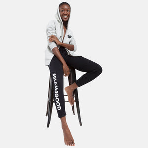 BOY MEETS GIRL® for GLAM4GOOD Black Skinny Sweats