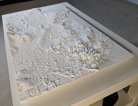 Table-sized 3D map of San Francisco