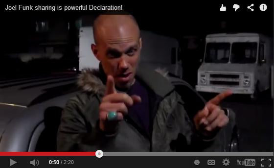 JOEL FUNK'S AWESOME DECLARATION