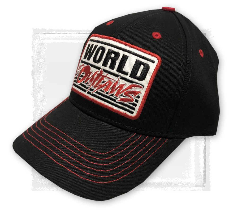 Black Throwback Snapback Hat