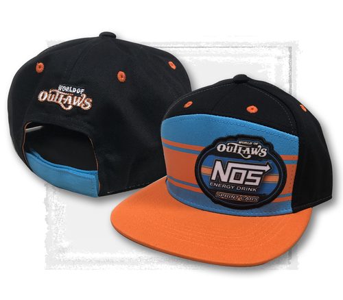 Orange Line Flat Bill NOS Hat