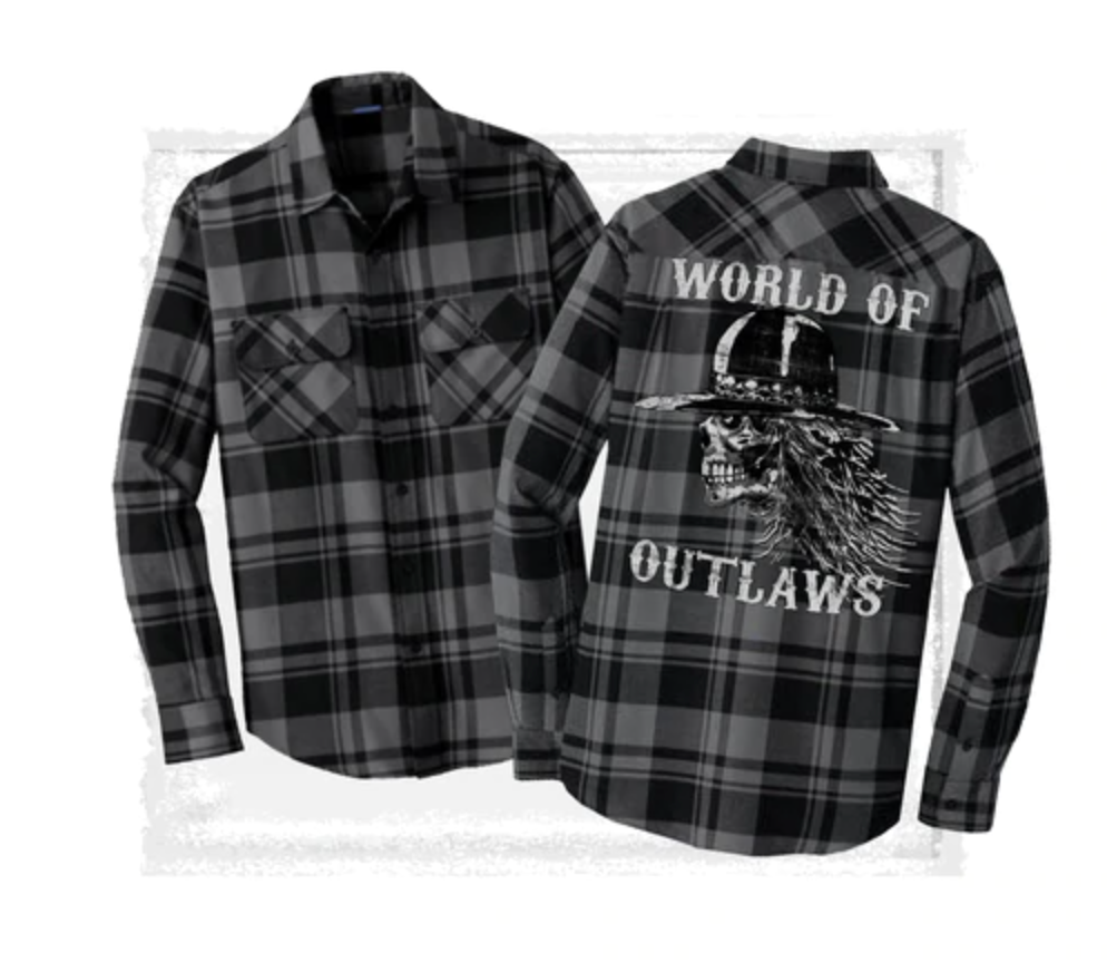 Mens World of Outlaws Flannel