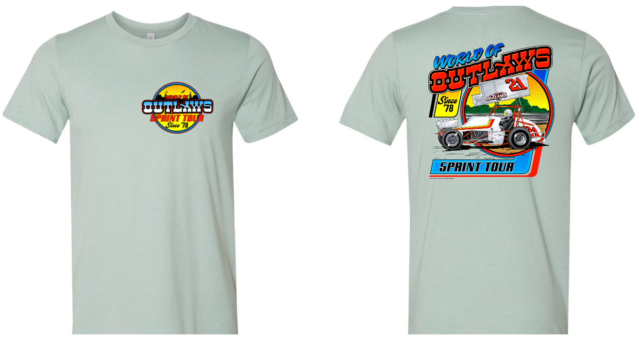 SC Retro Tour Tee Dusty Blue