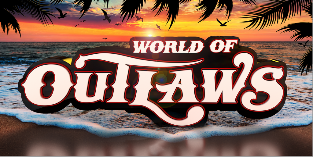 World of Outlaws Beach Towel
