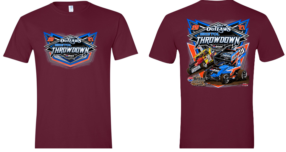 Bristol Throwdown Full Tee Maroon