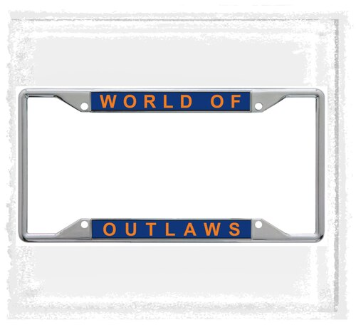 Outlaw Inlaid License Plate Frame